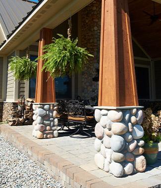 Exterior Columns Custom Home