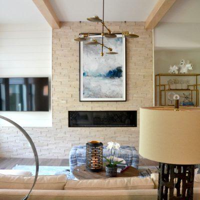 Exposed Beams Living Room