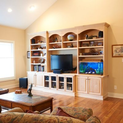 Built-in Shelving Living Area